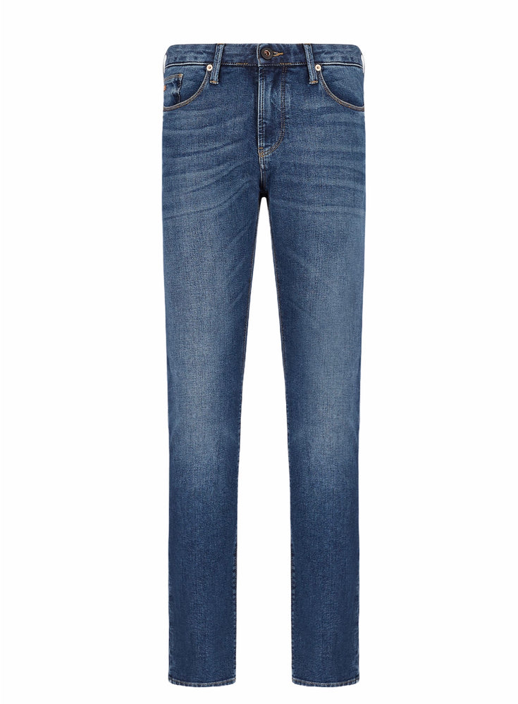 Emporio Armani J06 Slim Fit Jean Medium Blue HemingCo