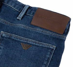 Load image into Gallery viewer, Emporio Armani J06 Slim Fit Jean Mid Stone Wash HemingCo