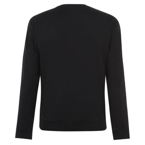 Load image into Gallery viewer, Emporio Armani Large Logo Sweatshirt Black HemingCo