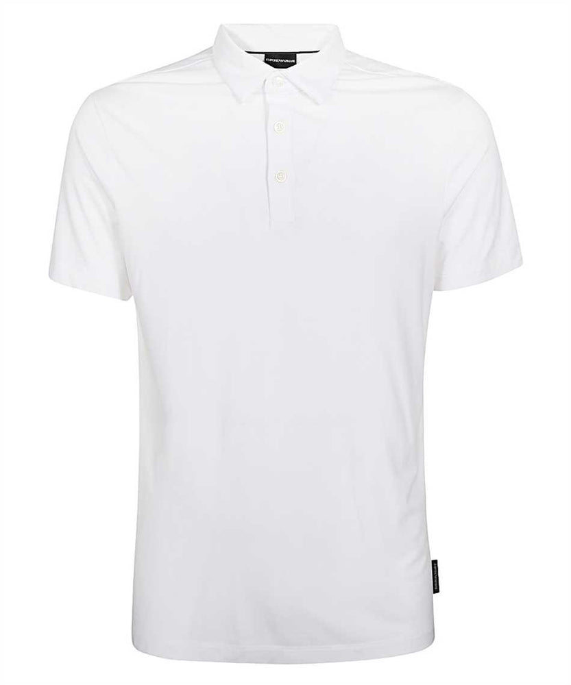 Emporio Armani Hidden Button Plackett Polo Shirt: WHITE HemingCo