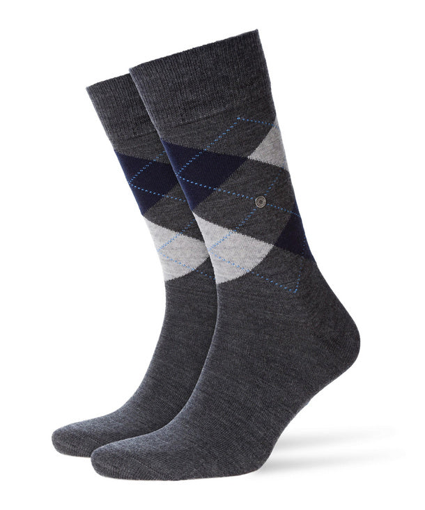Burlington Edinburgh Sock Grey Light Grey HemingCo