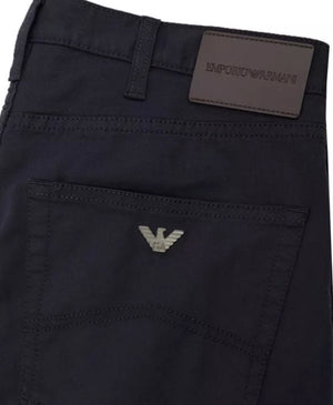 Load image into Gallery viewer, Emporio Armani J45 Gabardine Comfort TrousersNavy HemingCo
