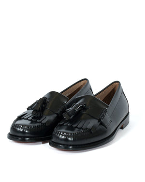 Load image into Gallery viewer, G.H Layton 2 Moc Kiltie Loafer Black HemingCo