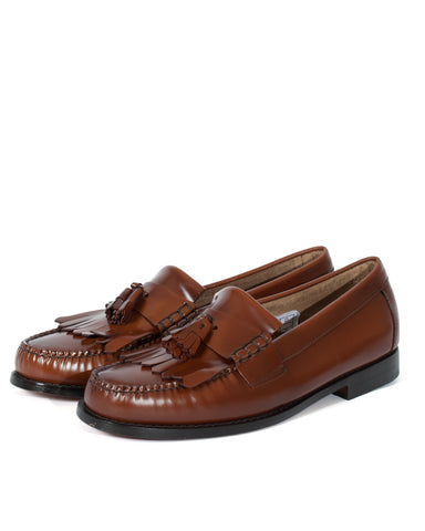 G.H Bass Layton 2 Moc Kiltie Loafer: MID BROWN