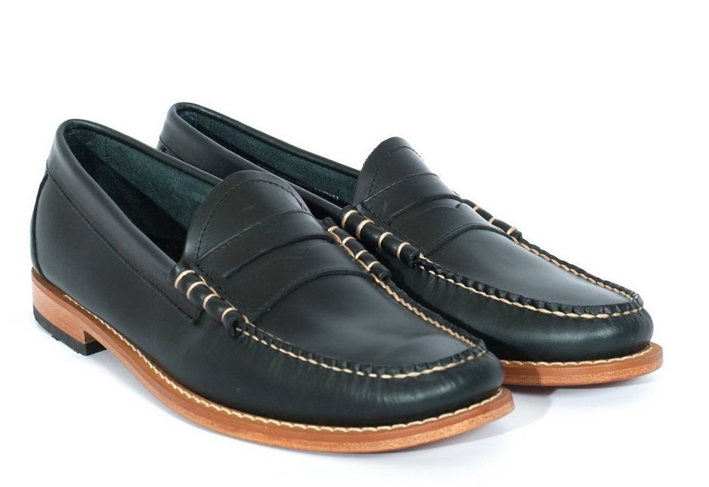 G.H Bass Leather Larson Loafer Navy HemingCo
