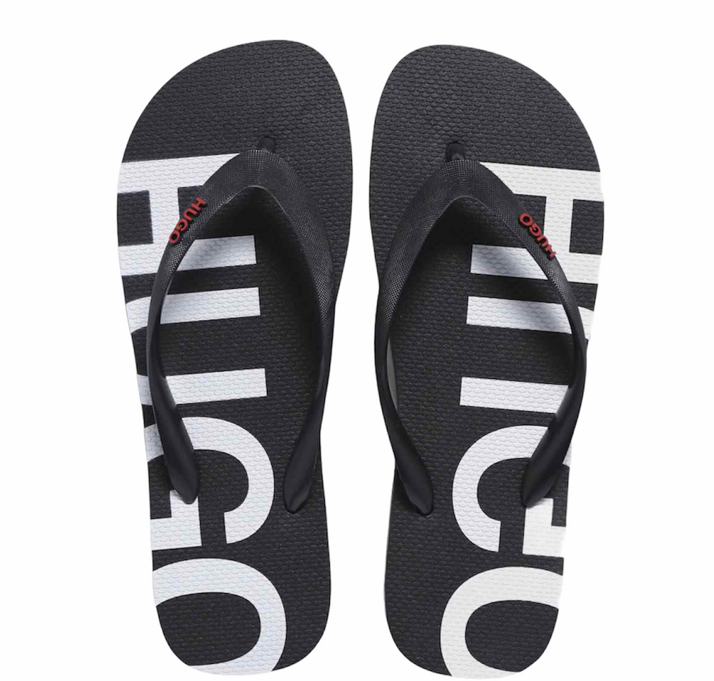 Hugo Boss Onfire Thong Flip Flops Black HemingCo