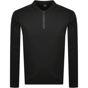 Hugo Boss PScuba Jersey Zip Polo Black HemingCo