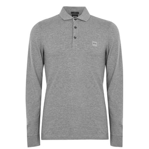 HB Passerby L/S Polo Shirt Grey HemingCo