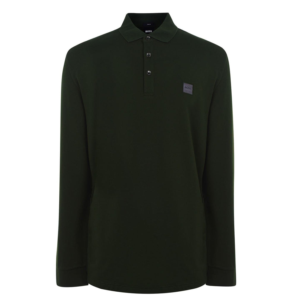 HB Passerby L/S Polo Shirt dark Green HemingCo