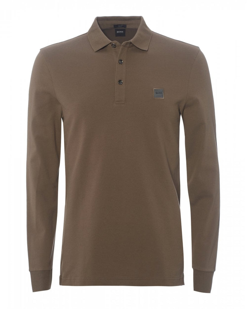 Hugo Boss Passerby L/S Polo Shirt Beige HemingCo
