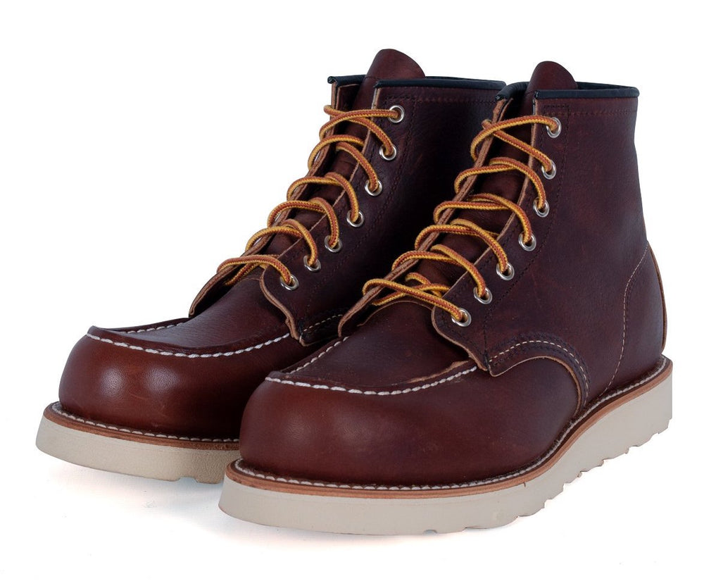 "Red Wing Shoes 6"" Moc-Toe Classic Boot: DARK BROWN HemingCo"