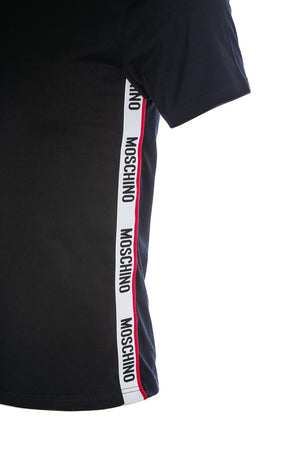 Moschino Underwear Side Tape T-Shirt: BLACK