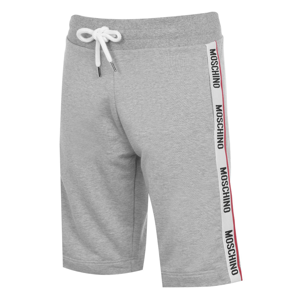 Moschino Tipped Tape Shorts Grey HemingCo