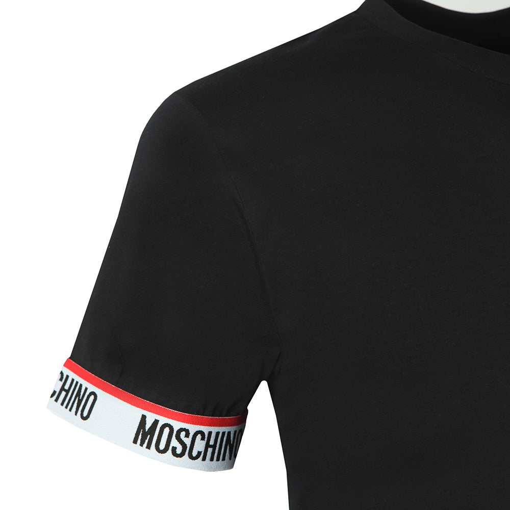 Moschino Underwear Cuff Tape T-Shirt Black Hemingco