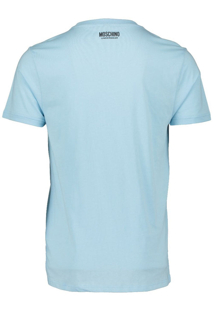 Moschino Underwear Tipped Tape T-Shirt Pale Blue HemingCo