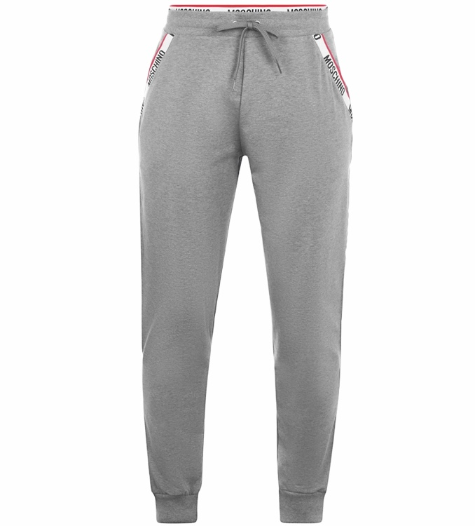 Moschino Taped Tracksuit Bottoms Grey HemingCo