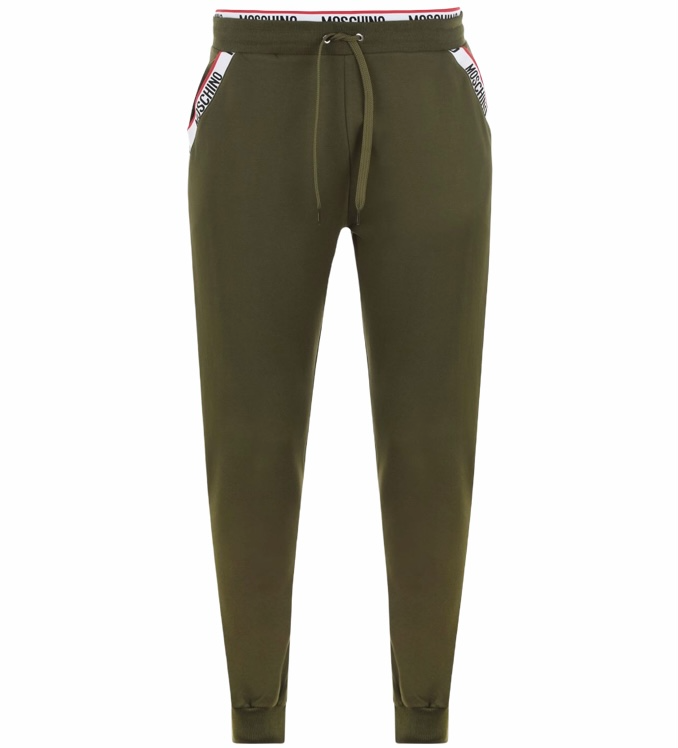 Moschino Taped Tracksuit Bottoms Green HemingCo