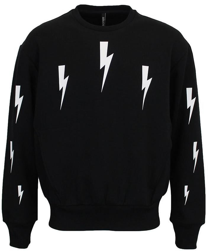 Neil Barrett Halo Bolt Sweatshirt Black HemingCo