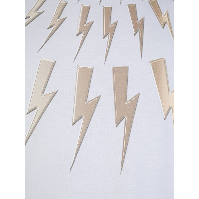 Load image into Gallery viewer, Neil Barrett Gold Bolt T-Shirt White HemingCo