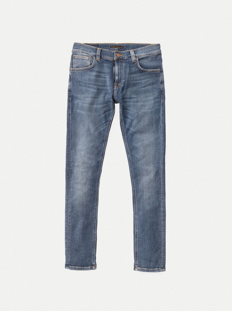 Nudie Jeans Tight Terry Jeans: STEEL BLUE
