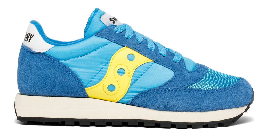 Saucony Jazz Blue Yellow trainers HemingCo