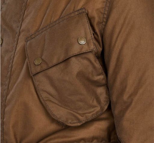 Load image into Gallery viewer, Barbour International SL Wax Jacket Sand HemingCo