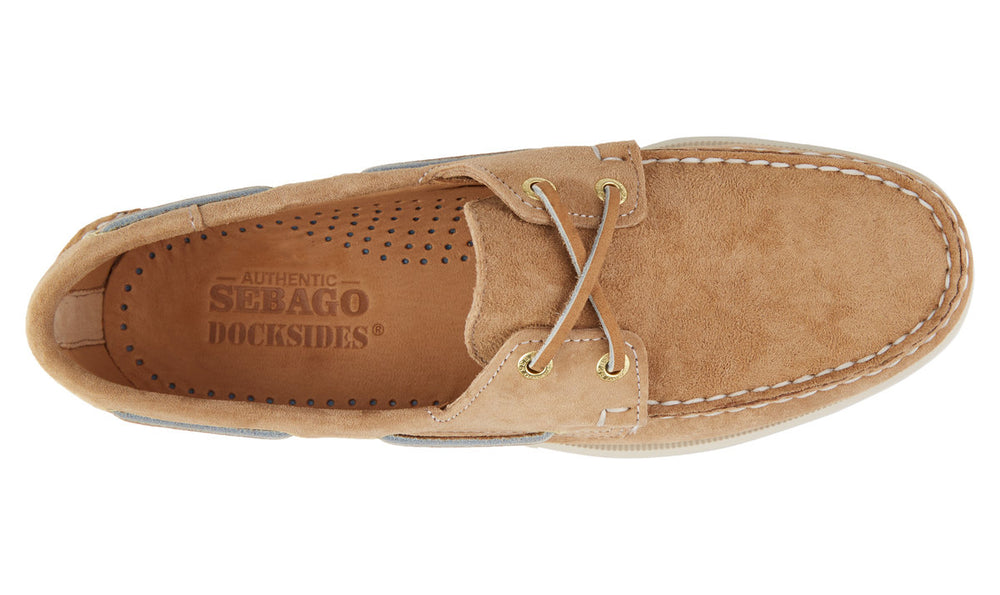 Load image into Gallery viewer, Sebago Dockside Boat Shoe Beige Hemingco