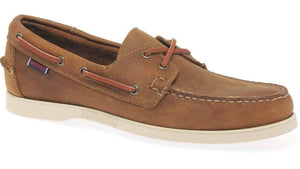 Sebago Dockside Boat Shoe Brown Wht HemingCo