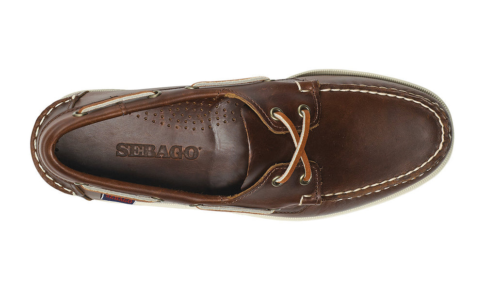 Sebago Dockside Boat Shoe Waxed Brown HemingCo