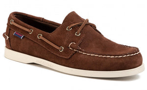 Sebago Dockside Suede Shoe Dark Brown HemingCo