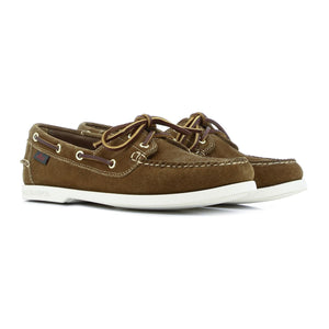 G.H Bass Jetty Suede Boat Shoe DARK BROWN HemingCo