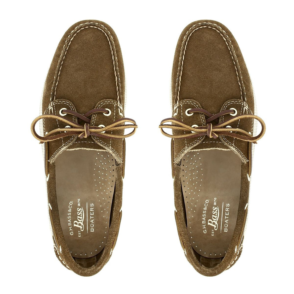 Load image into Gallery viewer, G.H Bass Jetty Suede Boat Shoe DARK BROWN HemingCo