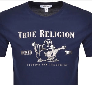 True Religion Metallic Silver Buddha Navy Hemingco