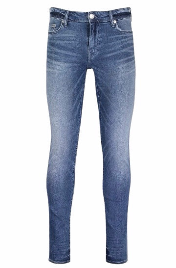 True Religion Tony No Flap Skinny Jeans Blue Fade HemingCo
