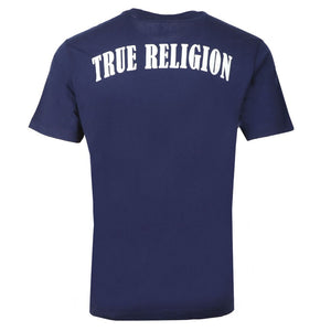 True Religion Rubber Horseshoe T-Shirt Navy HemingCo 1