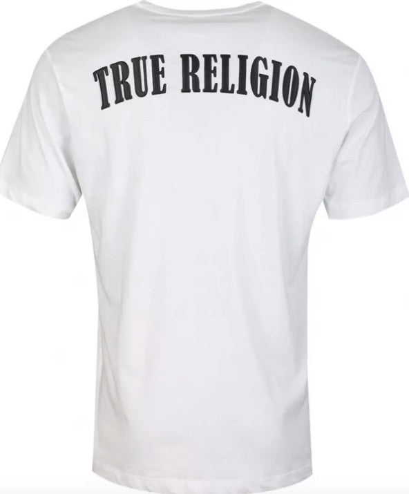 True Religion Rubber Horseshoe T-Shirt White HemingCo 1