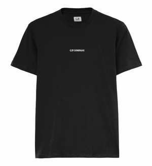 Load image into Gallery viewer, C.P Company Front Logo T-Shirt Black HemingCo