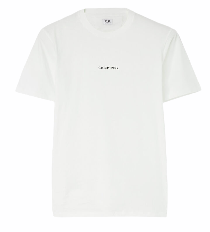 Load image into Gallery viewer, C.P Company Front Logo T-Shirt White HemingCo