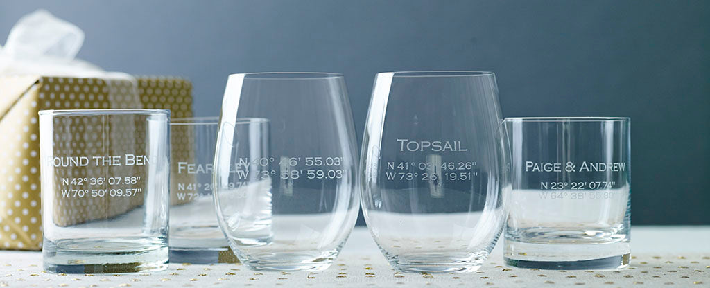 Custom coordinate glassware