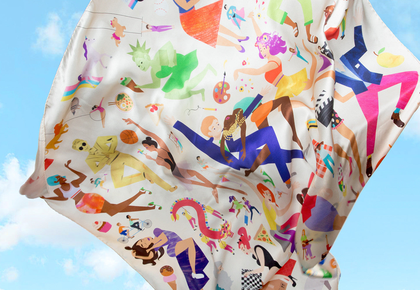 "50x50"" Zoo York Silk Scarf"
