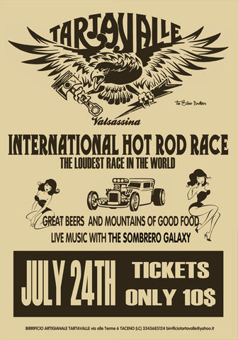 POSTER TARTAVALLE INT HOT ROD RACE