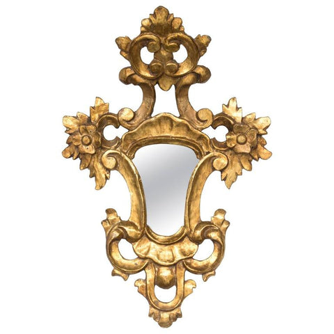 Small Venetian Gold Gilded Wood Mirror