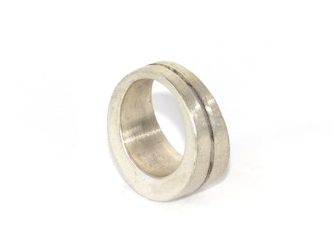 Matte Sterling Crevice Ring