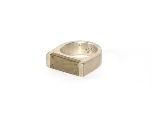 Brass & Sterling Plane Ring