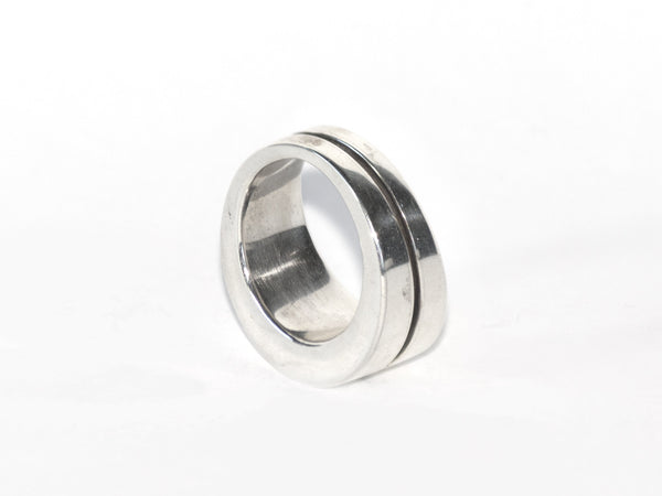 Polished Sterling Crevice Ring