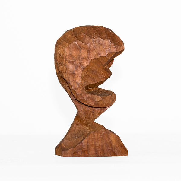 Abstract Hardwood Bust