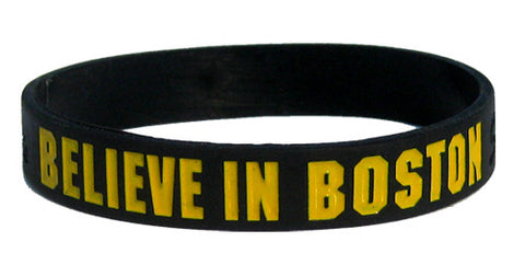 Believe in Boston - Black & Gold Bracelet