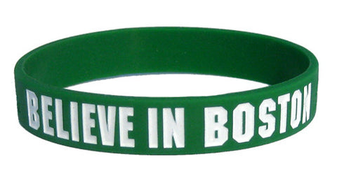 Believe in Boston - Green & White Bracelet