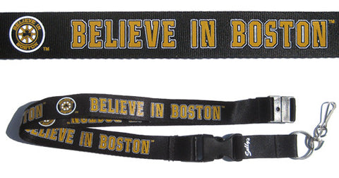 Believe in Boston - Black & Gold Lanyard