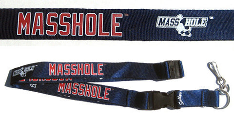 Masshole - Blue & Red Lanyard
